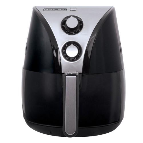 BLACK+DECKER Purify 2-Liter Air Fryer, Black/Stainless Steel, HF110SBD [Black/Stainless Steel] $83.97