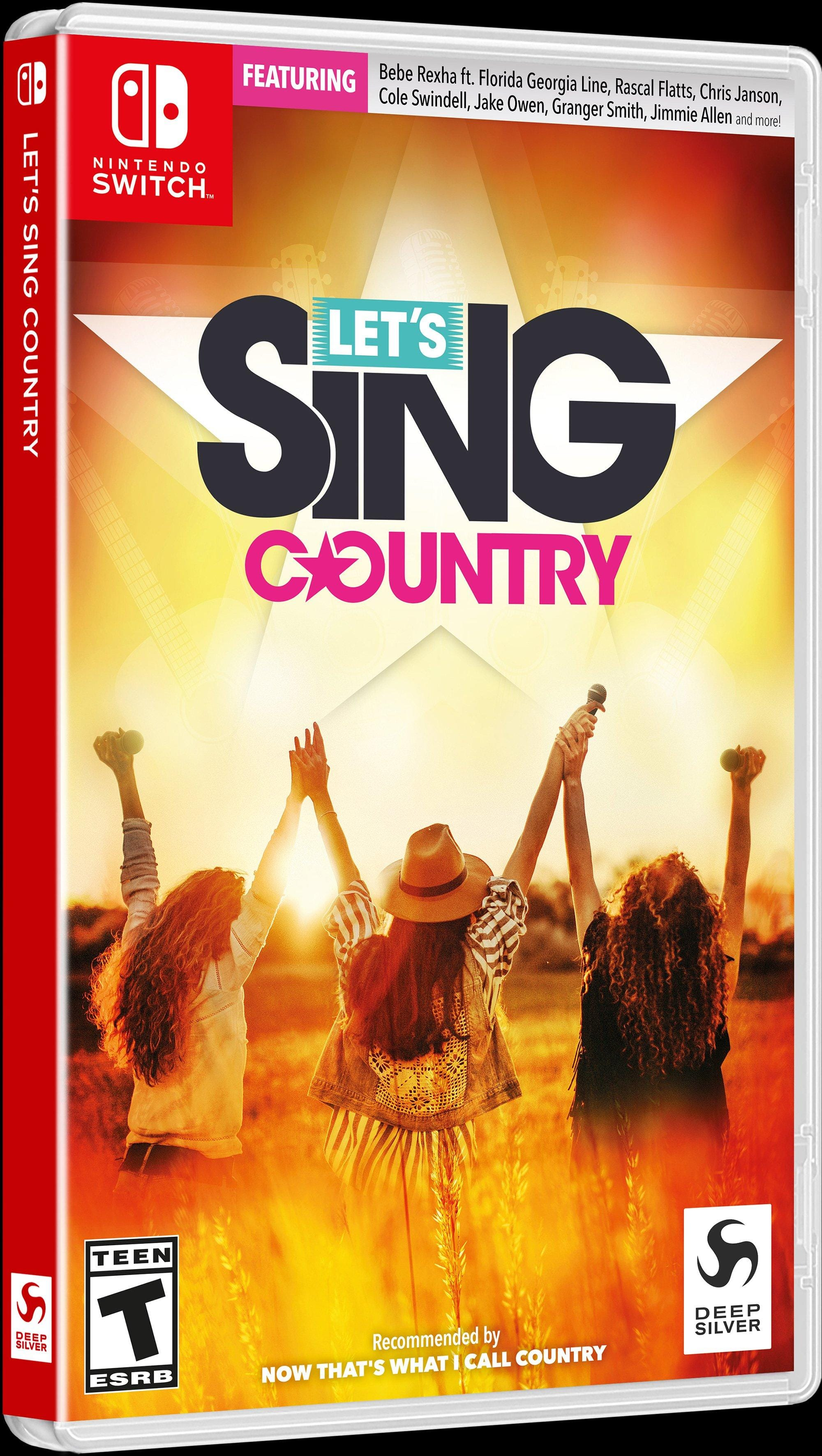 GameStop: Let's Sing Country $4.99 New Nintendo Switch Version