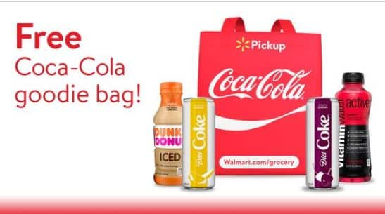 Walmart Free Coca-Cola Goodie Bag When Booking Grocery Pickup for April 21, 2018