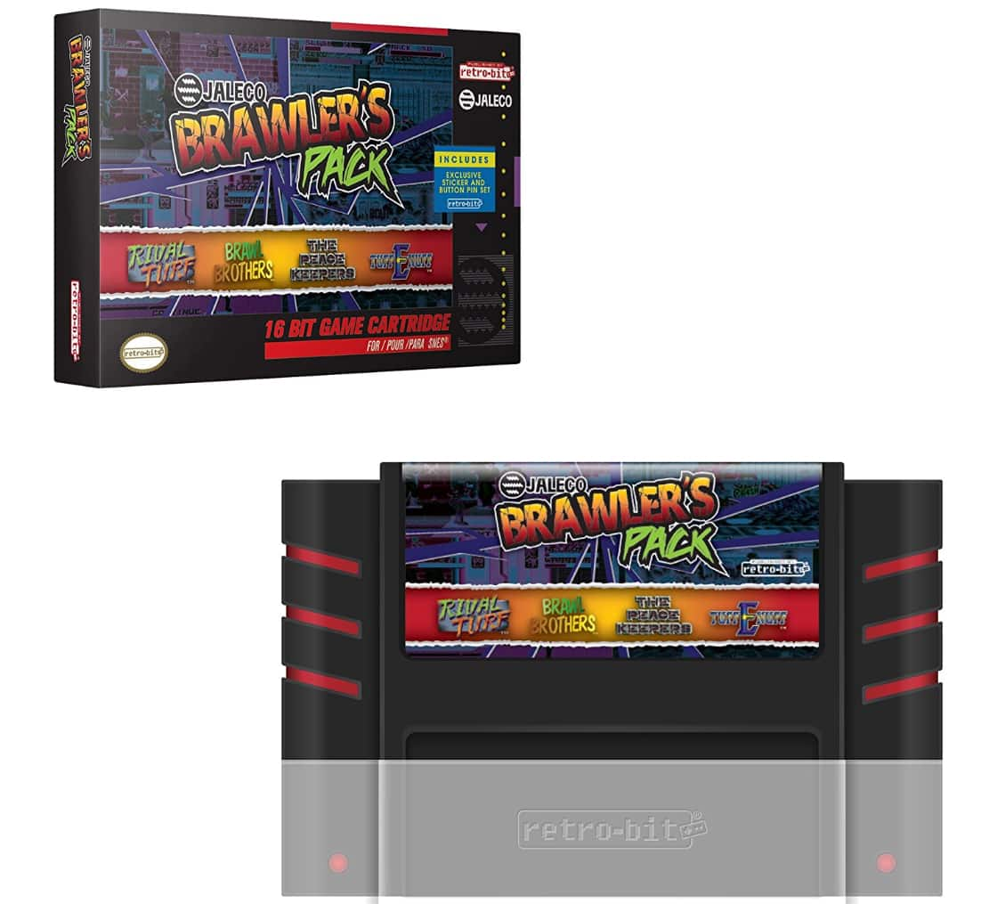 Amazon: $24.99  Retro-Bit Jaleco Brawler's Pack SNES Cartridge - Super NES;