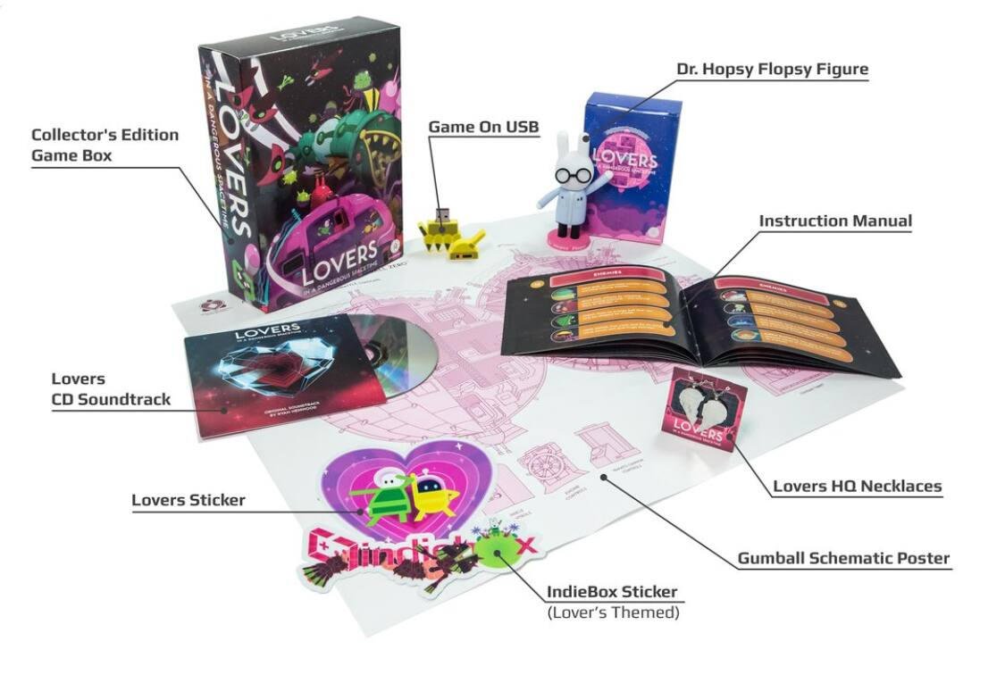 IndieBox: Lovers in a Dangerous Spacetime Collector's Edition PC + Free Gift $19.99