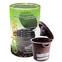 Amazon Deal: 40% OFF Ekobrew Cup, Refillable Cup for Keurig K-cup Brewers, Brown, 1-Count $4.36 Fs Prime Amazon