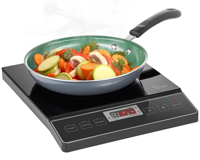 Chef's Star 1800W Portable Induction Cooktop Countertop Burner - 120V / 60Hz - Black $34 Fs Amazon