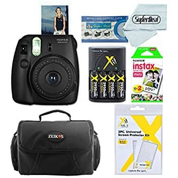 Fujifilm Instax Mini 8 Instant Film Camera With Fujifilm Instax Mini Instant Film Twin Pack (20 Sheets), Compact Bag Case, Batteries and Battery Charger (Black) $79.99 FS Amazon
