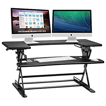 Halter ED-600 Preassembled Height Adjustable Desk Sit / Stand Elevating Desktop - Black $149.99 Fs Amazon