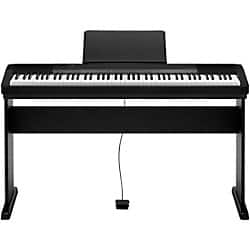 Casio CDP-135 88-Key Digital Piano with Wood Stand and Sustain Pedal Black $349 Fs @ MF