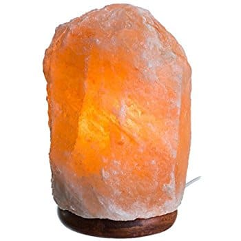 HemingWeigh Natural Himalayan Rock Salt Lamp 7-13 lbs with Wood Base, Electric Wire & Bulb $12.99 FSSS Amazon