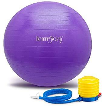 40% OFF HemingWeigh Yoga Static Strength Exercise Stability Ball with Foot Pump starting $8.99 FSSS Amazon