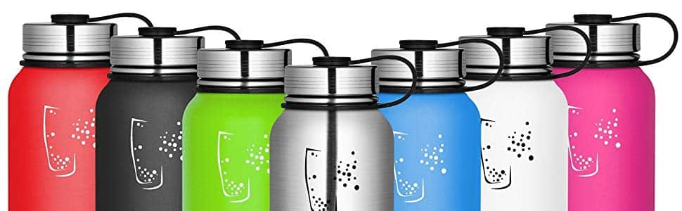 SWIG SAVVY 30oz Double Wall Vacuum Insulated Stainless Steel Water Bottle with Leak Proof Cap $7.97 FSSS Amazon