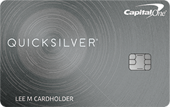 Quicksilver From Capital One   $150 cash bonus once you spend $500