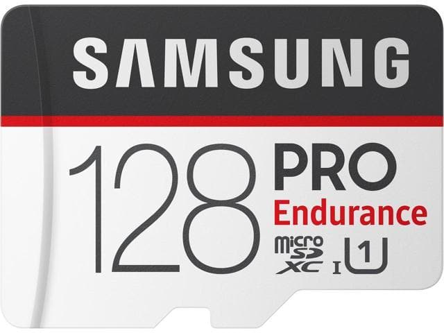 SAMSUNG 128GB PRO Endurance microSDXC UHS-I/U1 Memory Card with Adapter, Speed Up to 100MB/s (MB-MJ128GA/AM) $29.99