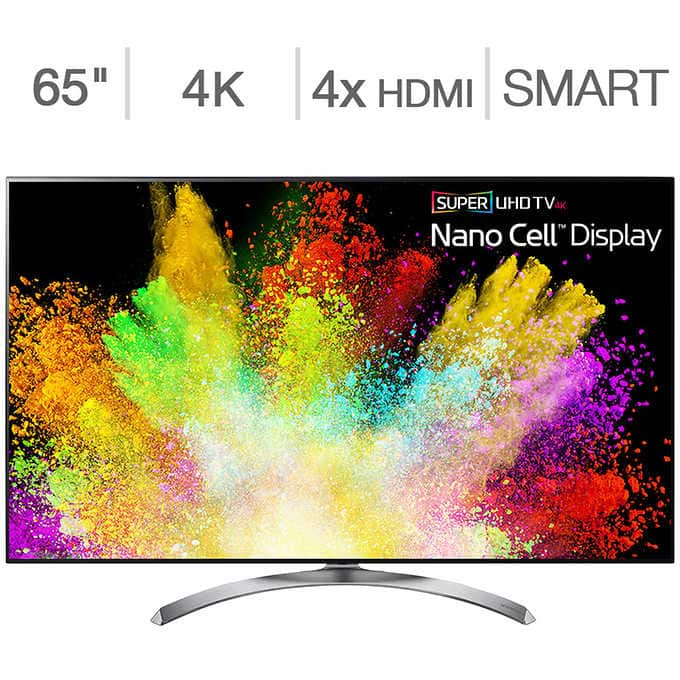 "LG Super UHD 4K TV 65"" 65SJ8500 on sale at Costco for $1150"