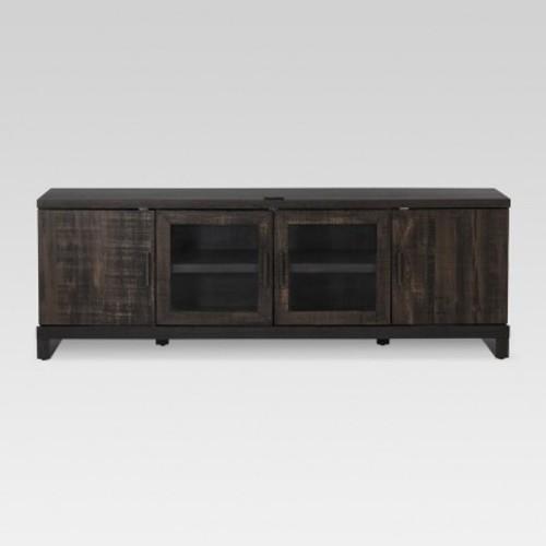 """65"""" TV Stand Weathered Pine - Threshold $140"""