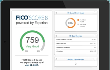 Free credit monitoring services for three major agencies at Experian and CreditKarma