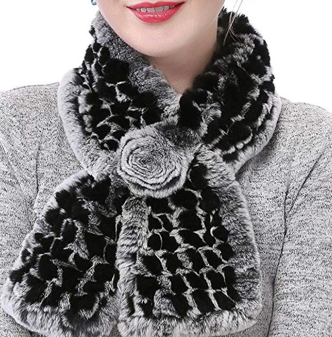 Valpeak Real Fur Scarves Women Winter Fur Neck $19.99