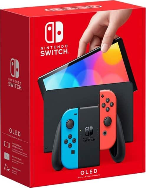 GameStop - Nintendo Switch OLED with Blue and Red Joy-Con for $349.99