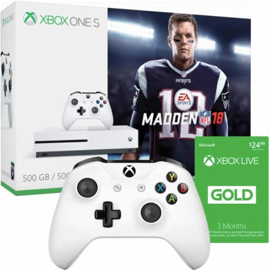 $244.97 Xbox One S Bundle: $199.99 Console + $29.99 Controller + $14.99 3 Months Xbox Live