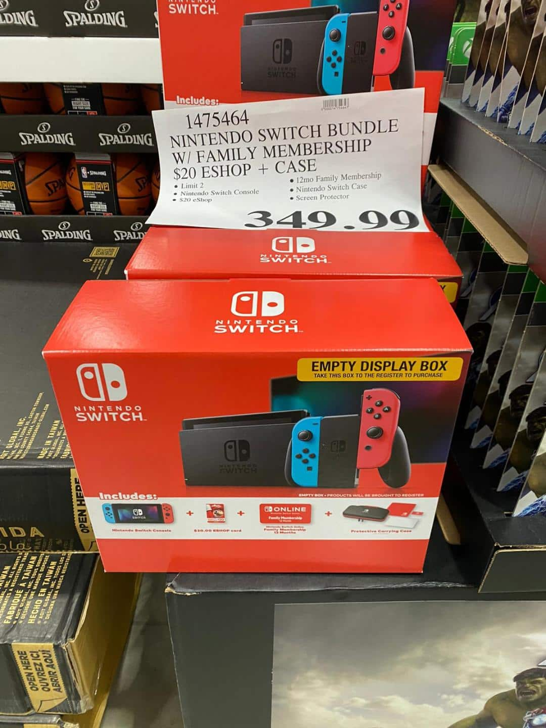 Nintendo Switch Bundle W Family Membership 20 Eshop Case 350 Costco B M Nintendo switch hardware is selling out at various retail locations in the u.s., but more systems are on the way, nintendo explained in a statement to gamespot. nintendo switch bundle w family