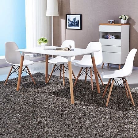COSTWAY Set of 4 Mid Century Modern Style DSW Dining Side Chair Wood Leg for $95.99 @walmart