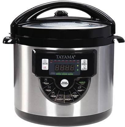 Tayama TMC-60XL 6 Quarts 8-in-1 Multi-Function Pressure Cooker, Black for $39.99