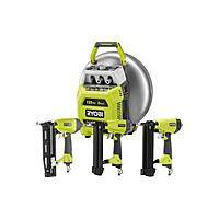 Home Depot Deal: Ryobi 6 gal. Vertical Pancake Compressor with 3 Nailers Combo Kit $149 Home Depot