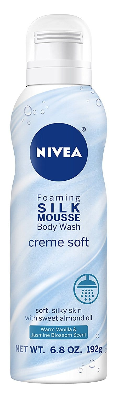 Nivea Creme Soft Foaming Silk Mousse Body Wash, Vanilla and Jasmine Blossom, 6.8 Ounce As low as $2.23 S&S Free Shipping