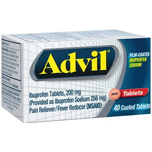 Advil Film-Coated (40 Count) Pain Reliever / Fever Reducer Tablet, 200mg Ibuprofen: As low as $2.55 FS S&S Amazon