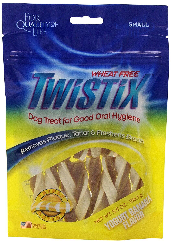 Twistix 5.5-Ounce Yogurt and Banana Dental Chew Treats for Dogs, Small $1.99 Prime
