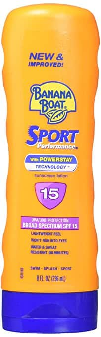 Prime Pantry: Banana Boat Sport Performance Broad Spectrum Sunscreen Lotion, SPF 15, 8 Fluid Ounce  $1.22