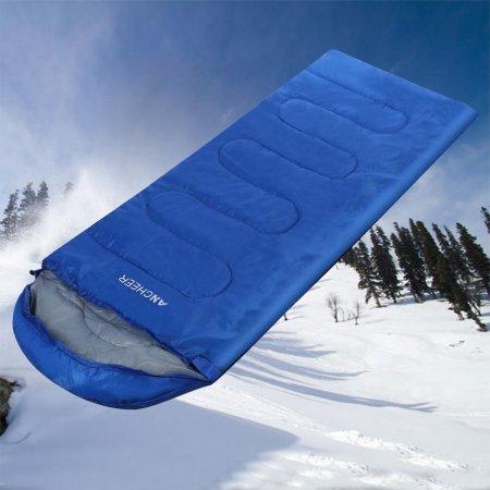 Envelope Sleeping Bag 60-Degree Adult Shape Single Folding With Carry Bag $13.24 Shipped