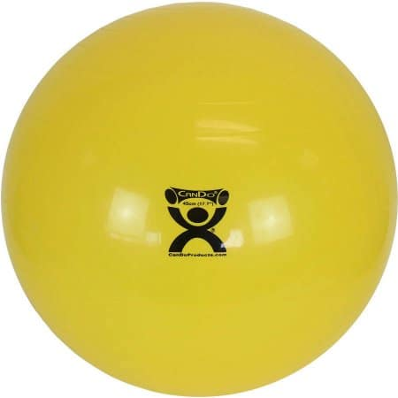 "CanDo Inflatable Exercise Ball - Yellow - 18"" (45 cm) $5.99"