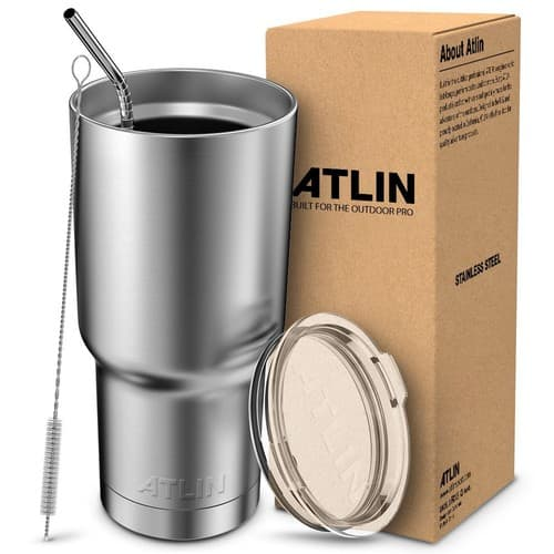 Atlin Tumbler [30 oz. Double Wall Stainless Steel Vacuum Insulation] Travel Mug $15.99