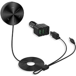 Blackzebra Car Audio Bluetooth 4.0 Receiver, Hands-free Car Kit with 3-Port USB Car Charger and much more. Only $10.99 with code (about 50% off)