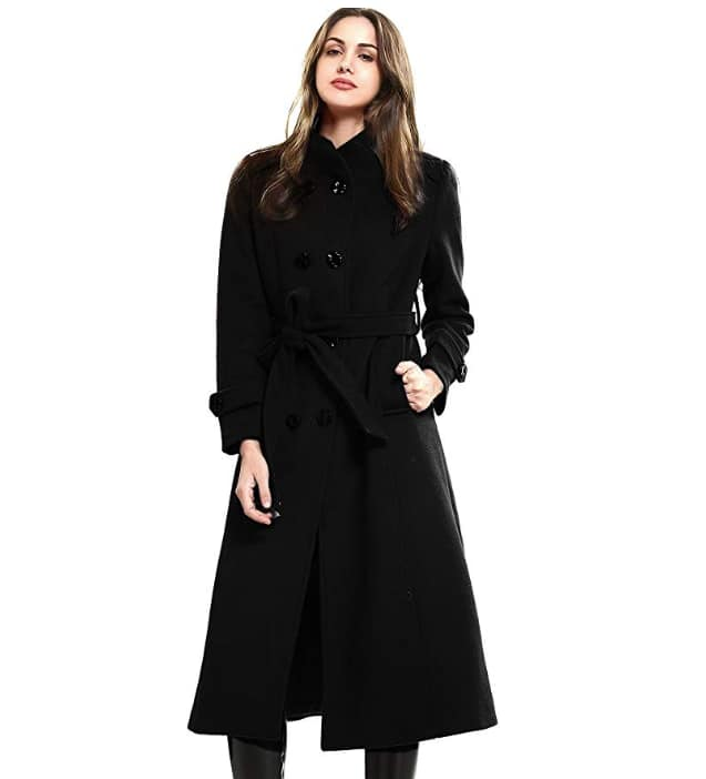 Escalier Women's Wool Trench Coat Winter Double $75.59