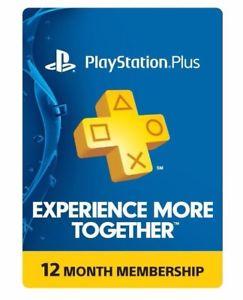 Playstation Plus 12 month membership $39.99, No Tax