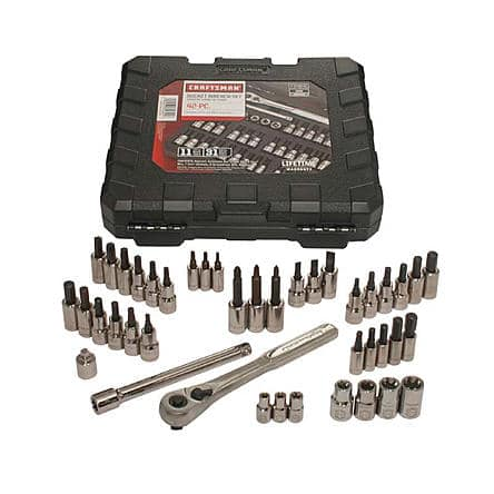 "Sears has Craftsman 42 piece 1/4"" and 3/8"" Drive and Torx bit set $26.99 and free store pickup Normally $99.00"