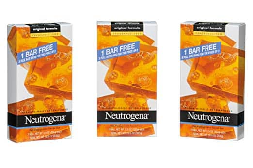 Neutrogena Transparent Facial Bar, Unscented Pack, 3.5 OZ, 3 Count (Pack of 6) total 18 Bars . S.S. $16.33... no S.S. - $17.22