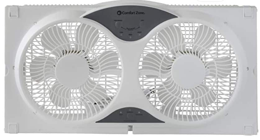 Comfort Zone Reversible 9 in Window Fit Fan with remote $33.38 Free ship on $35+ orders