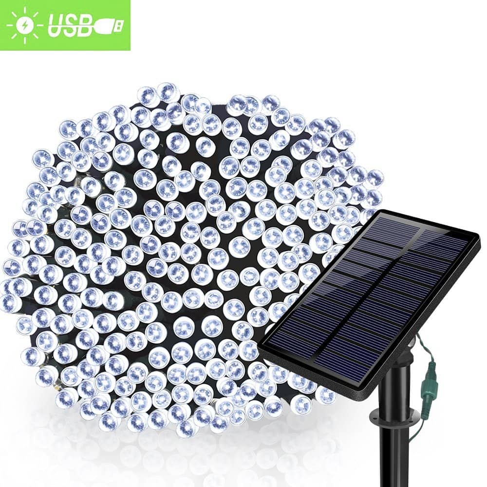 Solarmks Outdoor String Lights Solar Christmas Lights 43% OFF $6.95
