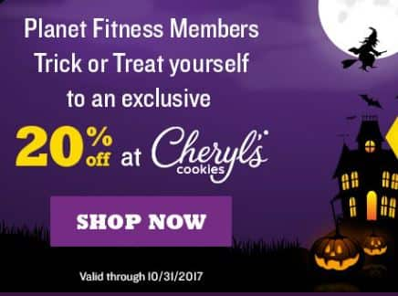 Planet Fitness Members - 20% off at Cheryl's Cookies