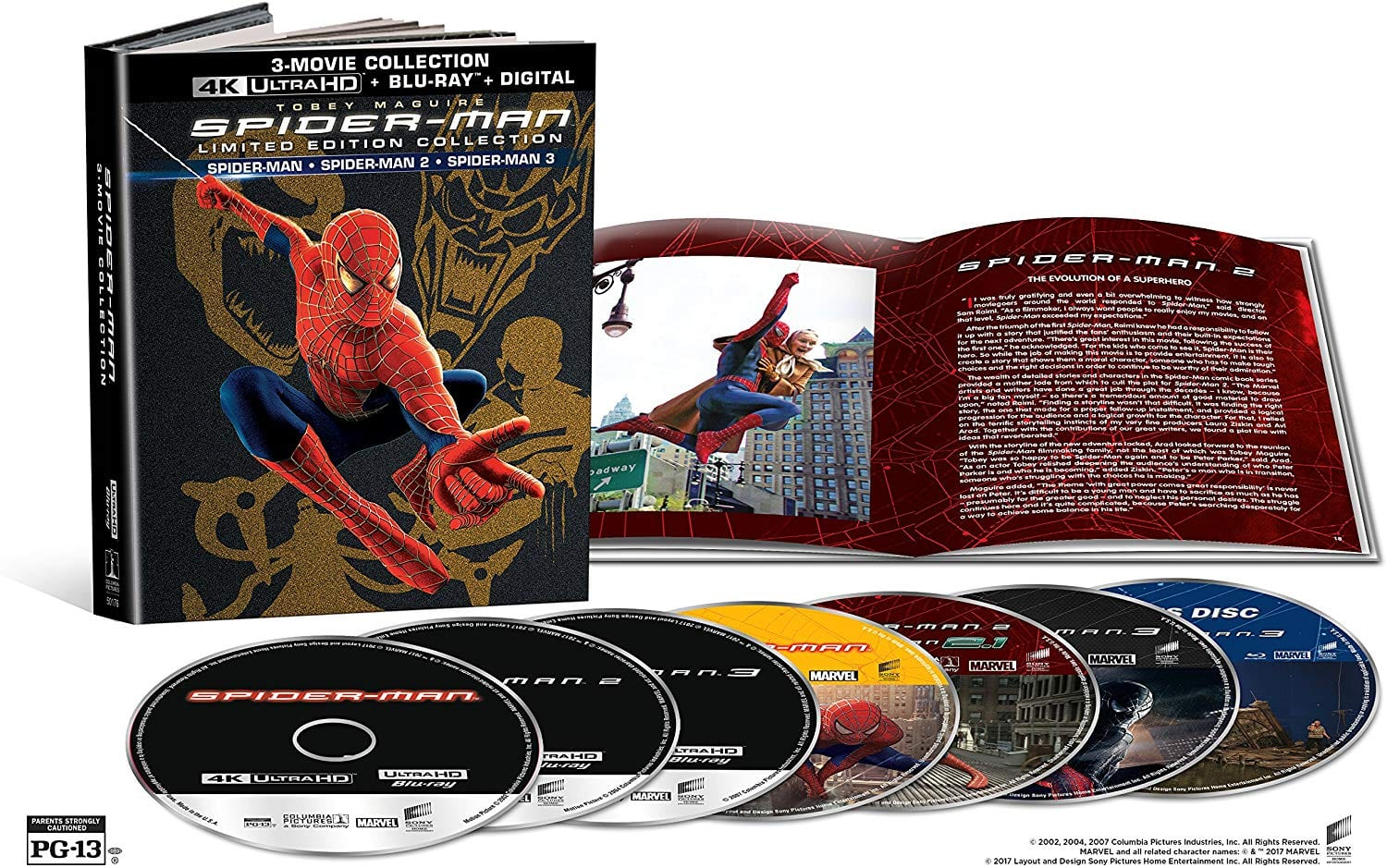 Spiderman Original Trilogy 4K Set $37.47