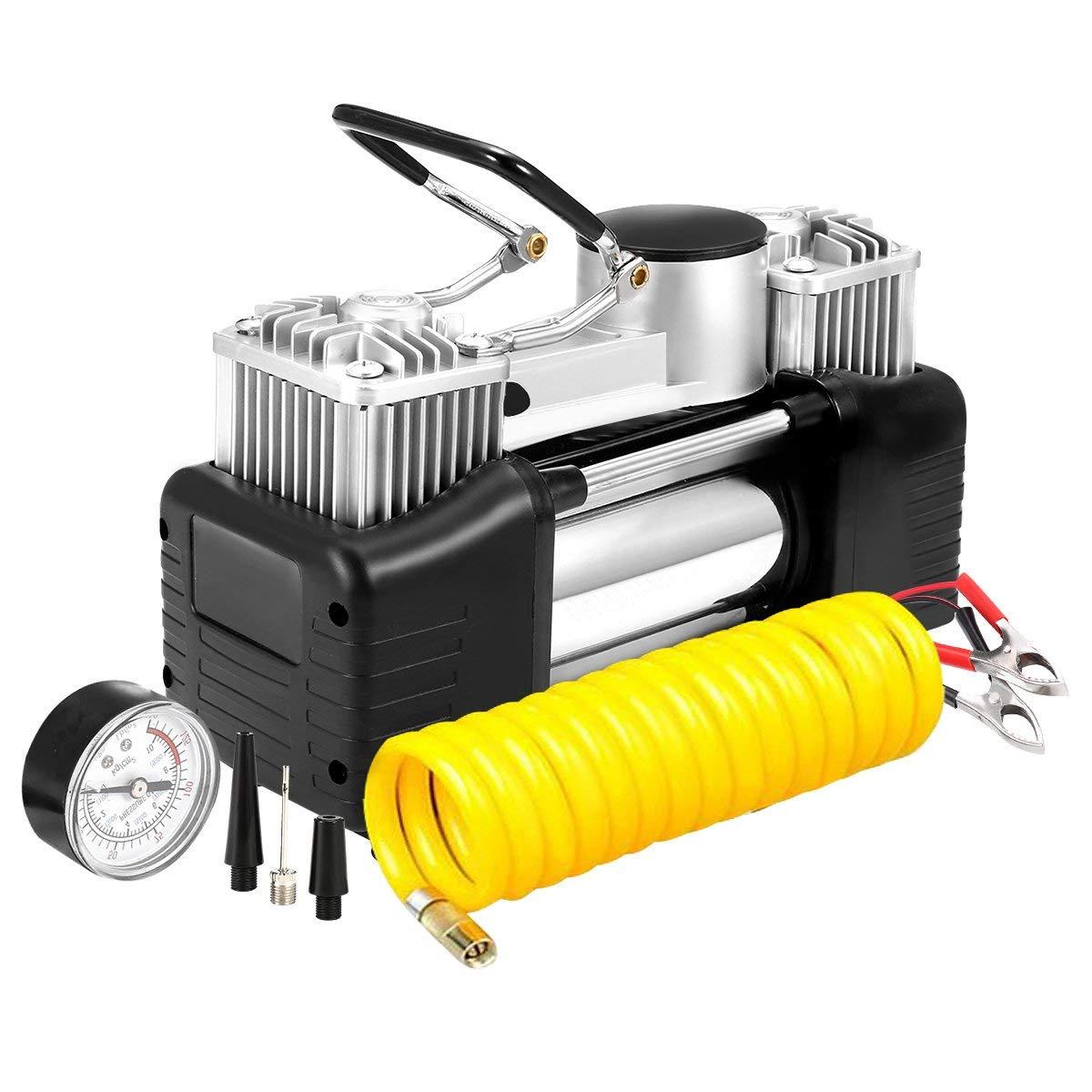 AUDEW Portable Air Compressor, Dual Cylinder Air Pump, 12V Tire Inflator $40.59 @Amazon +FS