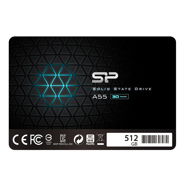 """Silicon Power 512GB SSD 3D NAND A55 SLC Cache Performance Boost SATA III 2.5"""" $79.99 @Amazon +FS"""
