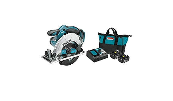 Makita XSS02Z 18-Volt LXT Lithium-Ion Cordless 6-1/2 Inch Circular Saw with BL1840BDC2 18-Volt LXT Lithium-Ion Battery and Rapid Optimum Charger Starter Pack (4.0Ah) - $179