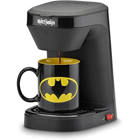 DC Batman Batman Single Serve Coffee Maker with mug, Black/Yellow, $15.97, Captain America, $17.97, free shipping for Prime, Amazon