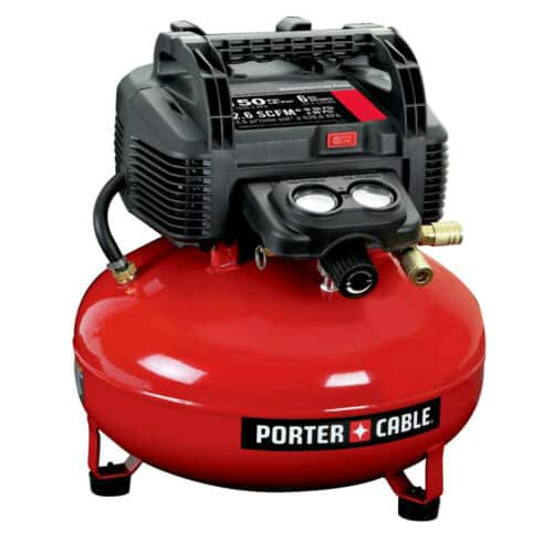 Back again, Porter-Cable C2002 0.8 HP 6 Gallon Oil-Free Pancake Air Compressor, $74.66. free shipping, CPO via ebay