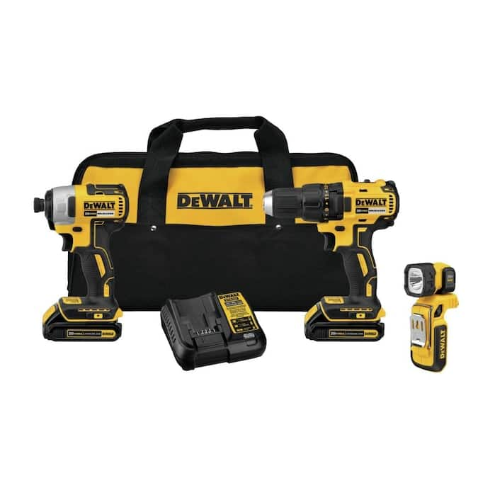 Lowe's, DEWALT 3-Tool 20-Volt Max Brushless Power Tool Combo Kit with Cordless Drill and Soft Case (2-Batteries and charger Included), $159, free shipping