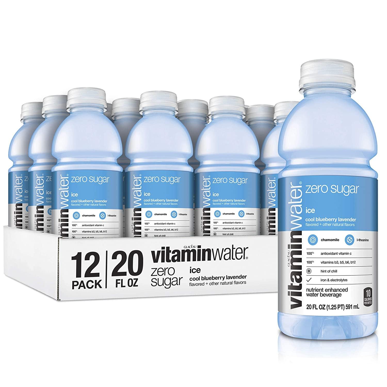 12 pack Vitaminwater Zero Sugar Ice, Ice Cool Blueberry-Lavender, $9.77 w/ S&S, Amazon