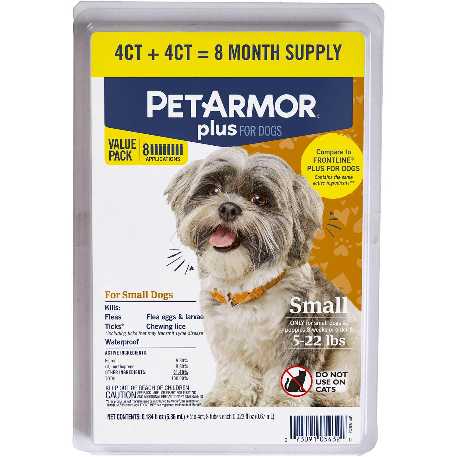 Sam's Club Members : PetArmor Plus Flea & Tick Protection for Cats or Dogs, 8 ct., $31.98, free shipping