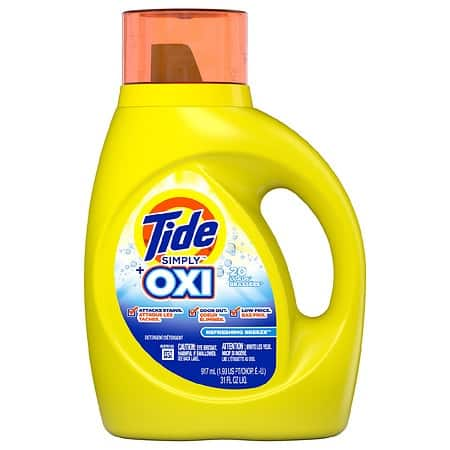 31 oz Tide Simply laundry detergent or 13 ct Tide Simply Pods, 34 oz Downy, $1.99 w/coupon, Walgreens